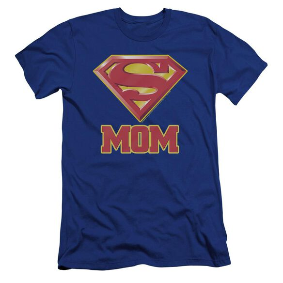 Superman Super Mom Premuim Canvas Adult Slim Fit Royal