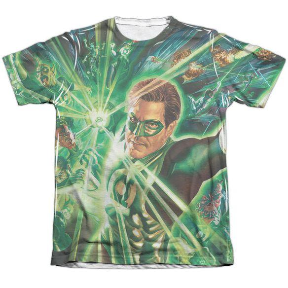 Green Lantern Lantern Burst Adult 65 35 Poly Cotton Short Sleeve Tee T-Shirt