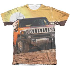 Hummer Sunset Ride Adult Poly Cotton Short Sleeve Tee T-Shirt
