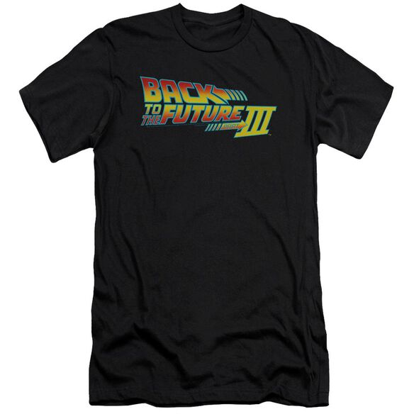 Back To The Future Iii Logo Premuim Canvas Adult Slim Fit