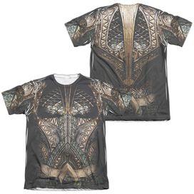 Justice League Movie Aquaman Uniform (Front Back Print) Adult Poly Cotton Short Sleeve Tee T-Shirt