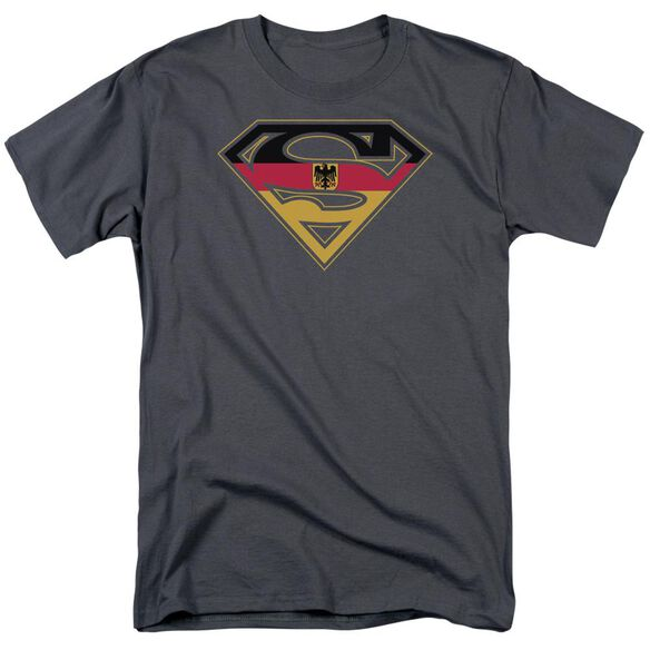Superman German Shield Short Sleeve Adult T-Shirt
