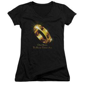 Lor One Ring Junior V Neck T-Shirt