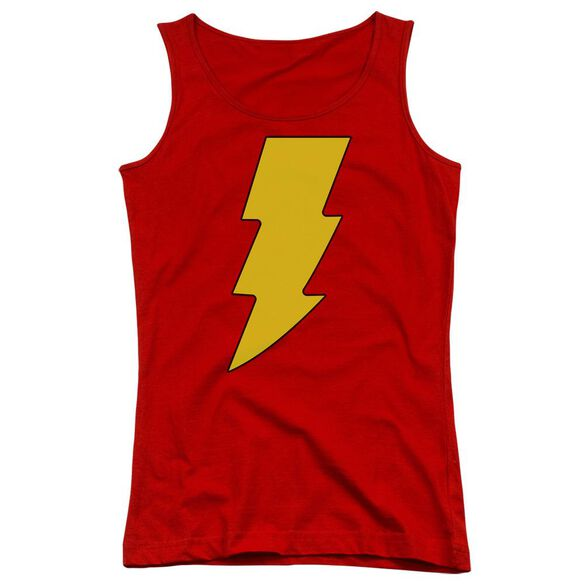 Dc Shazam Logo Juniors Tank Top