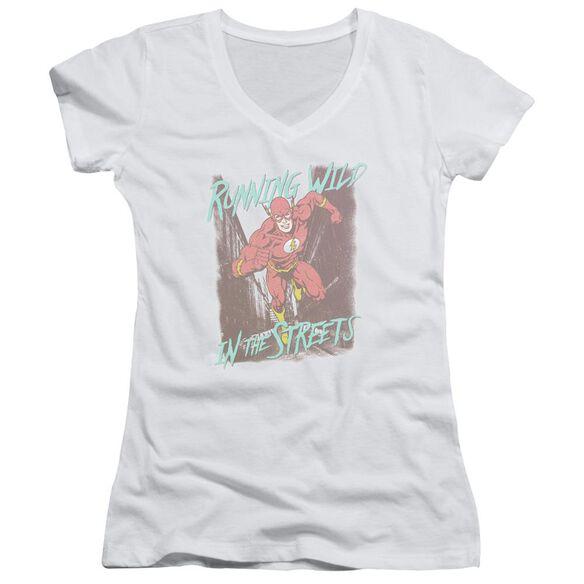 Jla Running Wild Junior V Neck T-Shirt