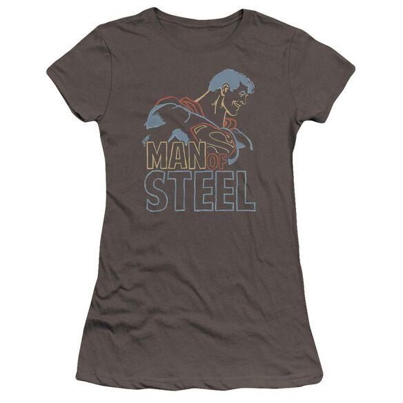 Superman Colored Lines Premium Bella Junior Sheer Jersey