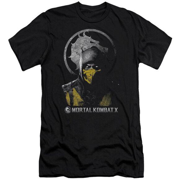 Mortal Kombat X Scorpion Bust Premuim Canvas Adult Slim Fit