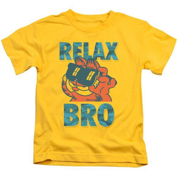 GARFIELD RELAX BRO - S/S JUVENILE 18/1 - YELLOW - T-Shirt