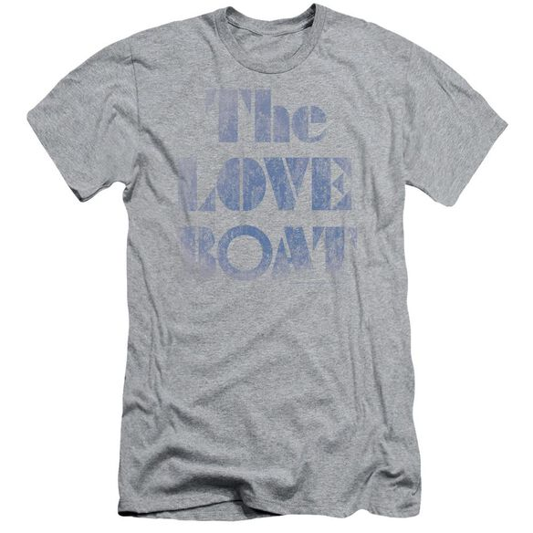 Love Boat Distressed Short Sleeve Adult Athletic T-Shirt