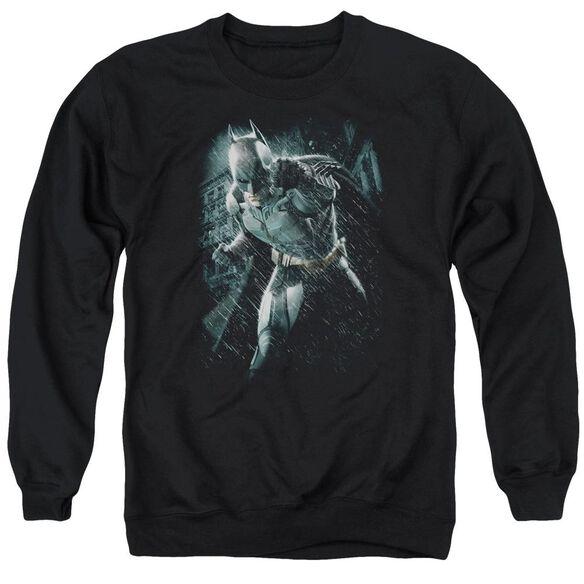 Dark Knight Rises Batman Rain Adult Crewneck Sweatshirt