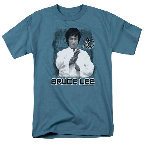 Bruce Lee Concentrate Short Sleeve Adult Slate T-Shirt