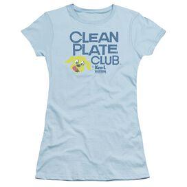Ken L Ration Clean Plate Short Sleeve Junior Sheer Light T-Shirt