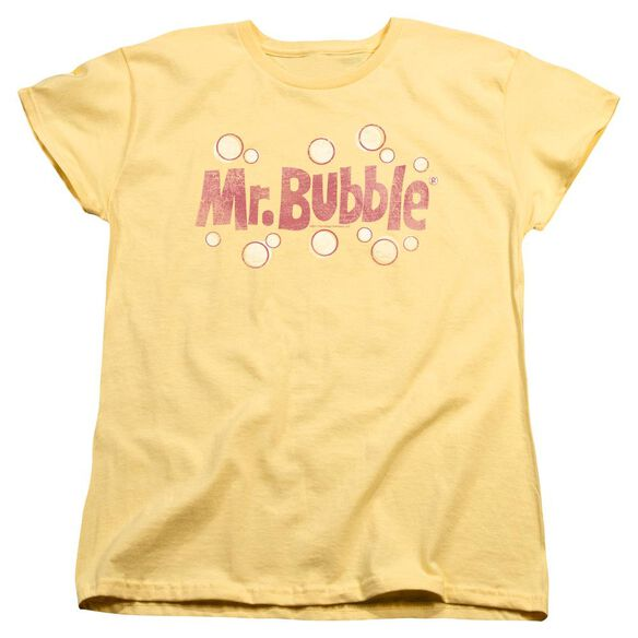 Mr Bubble Vintage Logo Short Sleeve Women's Tee Banana T-Shirt