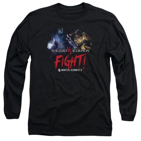 Mortal Kombat Fight Long Sleeve Adult T-Shirt