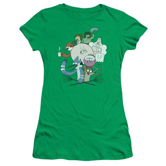Regular Show Regular Cast Short Sleeve Junior Sheer Kelly T-Shirt