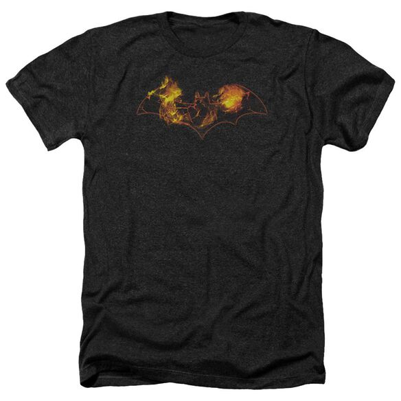 Batman Molten Logo Adult Heather