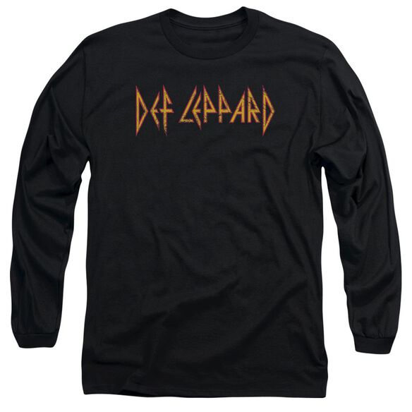 Def Leppard Horizontal Logo Long Sleeve Adult T-Shirt