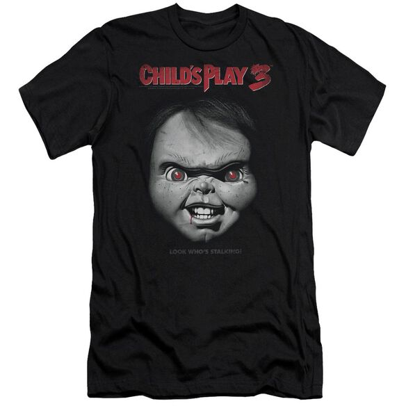 Childs Play 3 Face Poster Premuim Canvas Adult Slim Fit