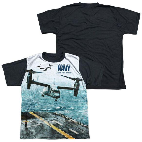 Navy Osprey Short Sleeve Youth Front Black Back T-Shirt