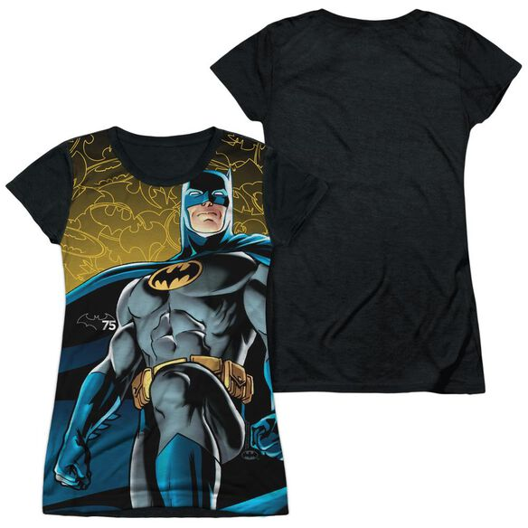 Batman 75 Glow Short Sleeve Junior Poly Black Back T-Shirt