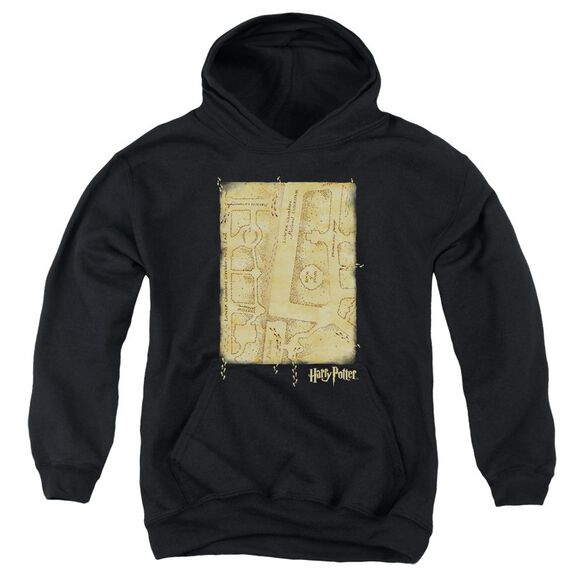 Harry Potter Marauder's Map Interior Youth Pull Over Hoodie