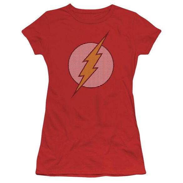 Dc Flash Little Logos Short Sleeve Junior Sheer T-Shirt