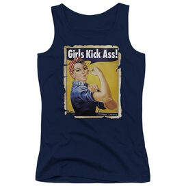 Girls Kick Ass Juniors Tank Top