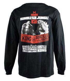 Godzilla Vs. Kong Rumble in The Jungle Long Sleeve T-Shirt
