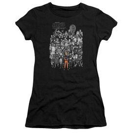 Naruto Characters Short Sleeve Junior Sheer T-Shirt