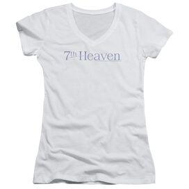 7th Heaven 7th Heaven Logo - Junior V-neck - White