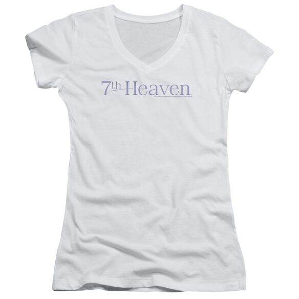 7 Th Heaven 7 Th Heaven Logo Junior V Neck T-Shirt