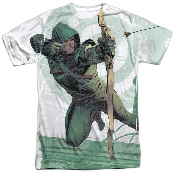 Arrow City Bullseye Short Sleeve Adult Poly Crew T-Shirt