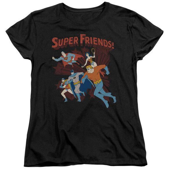 Dc Super Running Short Sleeve Womens Tee T-Shirt