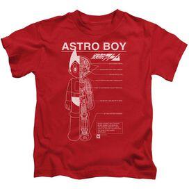 Astro Boy Schematics Short Sleeve Juvenile T-Shirt