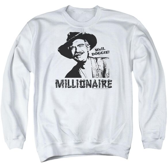 Beverly Hillbillies Millionaire - Adult Crewneck Sweatshirt - White