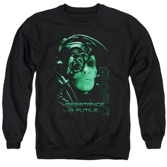 Star Trek Resistance Is Futile Adult Crewneck Sweatshirt