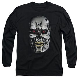 Terminator Skull Long Sleeve Adult T-Shirt