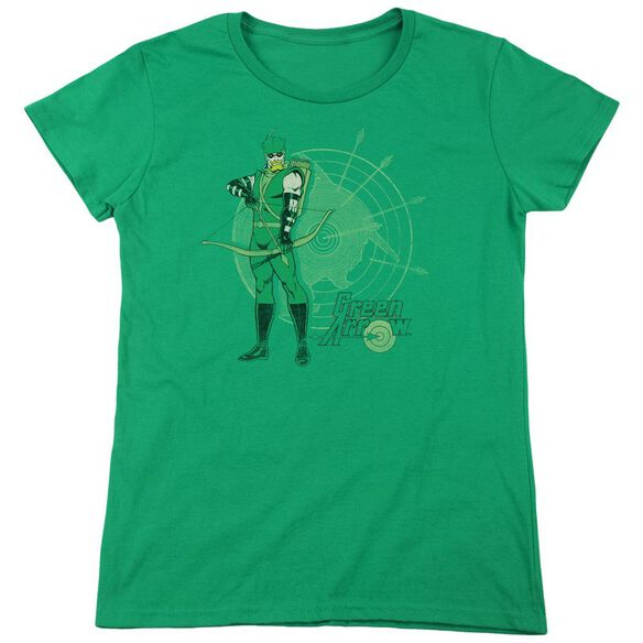 Dc Arrow Target Short Sleeve Women's Tee Kelly T-Shirt