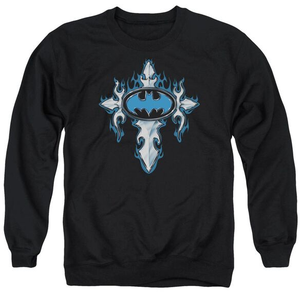 Batman Gothic Steel Logo Adult Crewneck Sweatshirt