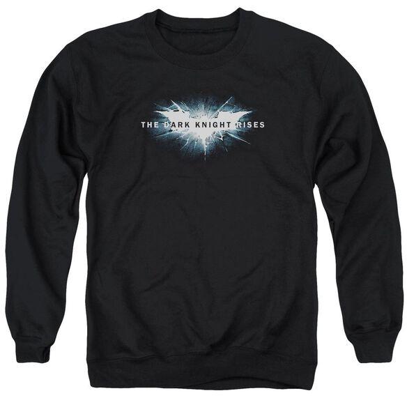Dark Knight Rises Cracked Bat Logo Adult Crewneck Sweatshirt