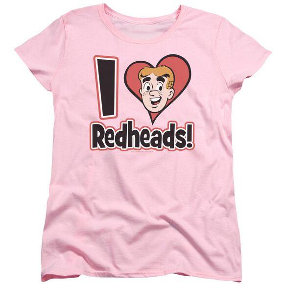 Archie Comics I Love Redheads Short Sleeve Womens Tee T-Shirt