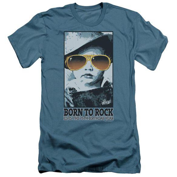 Elvis Born To Rock Short Sleeve Adult T-Shirt