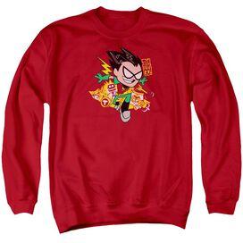 Teen Titans Go Robin Adult Crewneck Sweatshirt