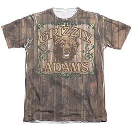 Grizzly Adams Paw Prints Adult Poly Cotton Short Sleeve Tee T-Shirt