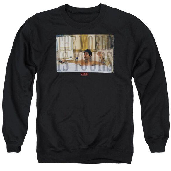 Scarface Bathtub Adult Crewneck Sweatshirt