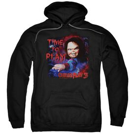 CHILDS PLAY 3 TIME TO PLAY - ADULT PULL-OVER HOODIE - Black