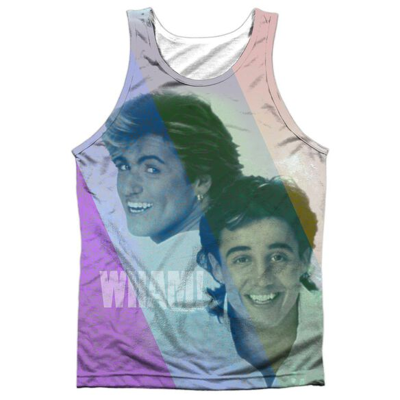 Wham Pastel Lines Adult Poly Tank Top