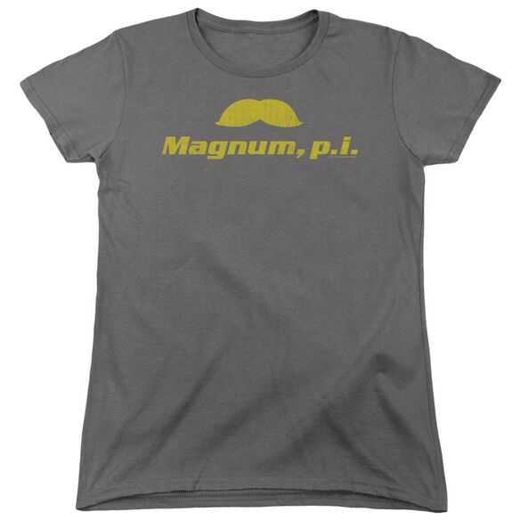 Magnum Pi The Stache Short Sleeve Womens Tee T-Shirt