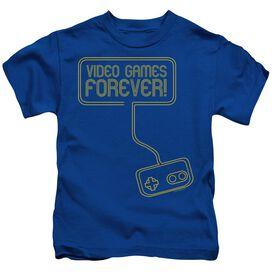 Video Games Forever Short Sleeve Juvenile Royal Blue T-Shirt