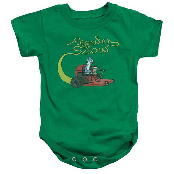 Regular Show Mower Infant Snapsuit Kelly Green